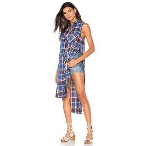 NWT Rails Jordyn Full Slit Side Plaid Tunic Top